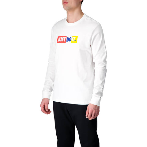 NIKE MEN'S NSW JUST DO IT LONG SLEEVE TOP WHITE