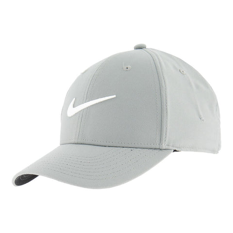NIKE MEN'S DRY L91 SPORT CAP SMOKE GREY/WHITE