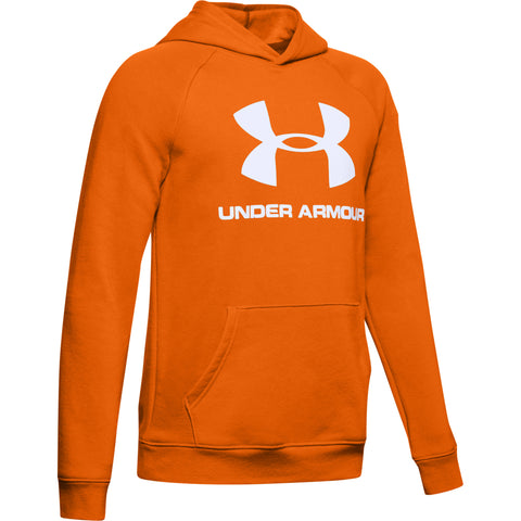 UNDER ARMOUR BOY'S RIVAL LOGO HOODY PERSIMMON