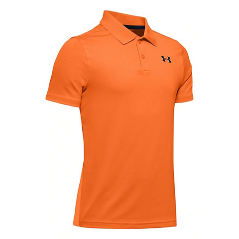 UNDER ARMOUR BOY'S PERFORMANCE POLO ORANGE SPARK