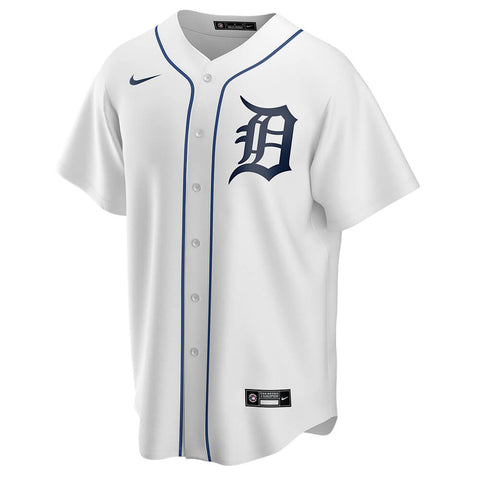 NIKE MEN'S DETROIT TIGERS REPLICA HOME JERSEY WHITE