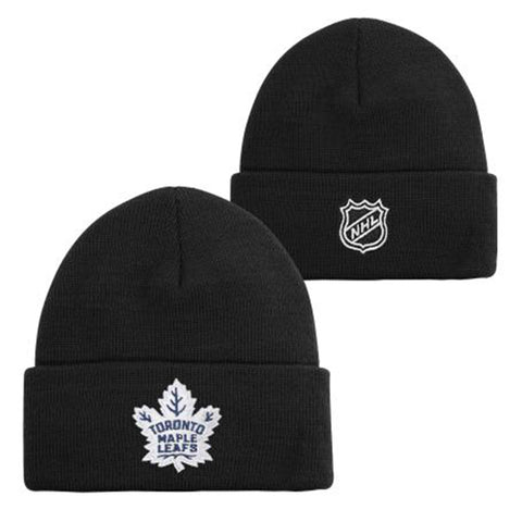 OUTERSTUFF YOUTH TORONTO MAPLE LEAFS CUFFED KNIT HAT BLACK