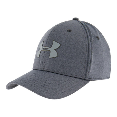 UNDER ARMOUR MEN'S ARMOUR TWIST STRECH CAP BLACK LIGHT HEATHER/BLACK/GREY