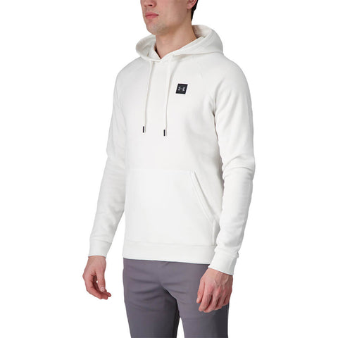 UNDER ARMOUR MEN'S RIVAL FLEECE HOODY ONYX WHITE/BLACK