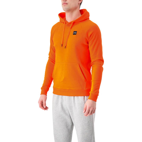 UNDER ARMOUR MEN'S RIVAL FLEECE HOODY ULTRA ORANGE/BLACK