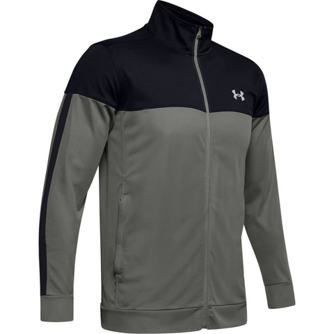 UNDER ARMOUR MEN'S SPORTSTYLE PIQUE TRACK JACKET GREEN/BLACK/WHITE