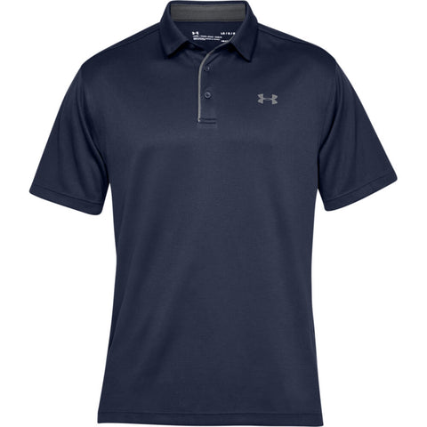 UNDER ARMOUR MEN'S TECH POLO MIDNIGHT NAVY/GRAPHITE/GRAPHITE