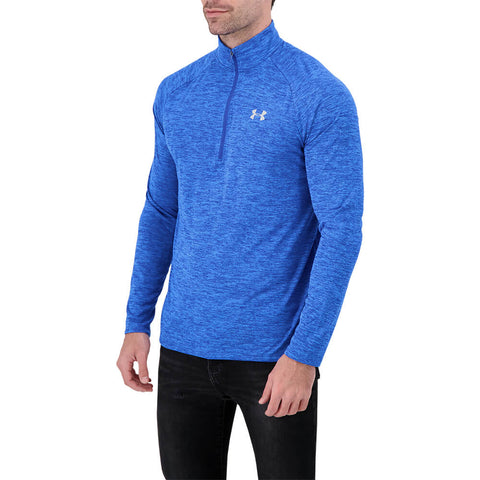 UNDER ARMOUR MEN'S TECH 2.0 1/2 ZIP TOP VERSA BLUE/MOD GREY