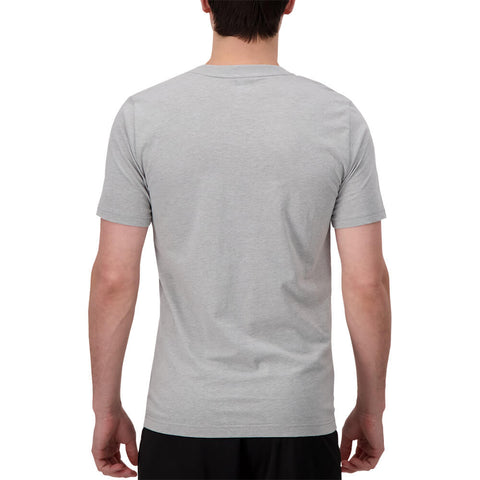NEW BALANCE MEN'S CLASSIC POCKET SHORT SLEEVE TOP ATHLETIC GREY