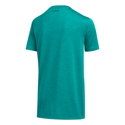 ADIDAS BOY'S PIXEL POLY TEE GLORY GREEN