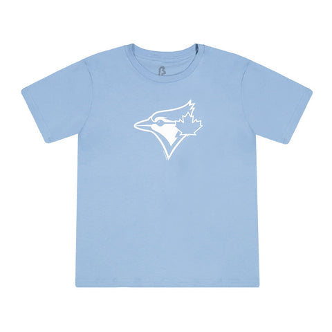 BULLETIN ATHLETIC YOUTH TORONTO BLUE JAYS WHITE LOGO BASIC SHORT SLEEVE TOP BABY BLUE