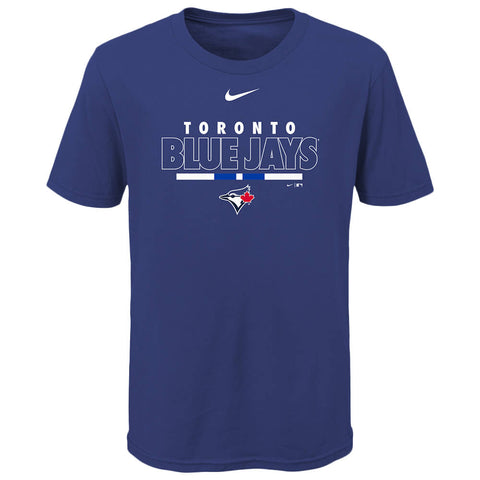 OUTERSTUFF NIKE YOUTH TORONTO BLUE JAYS TEAM HIGHLIGHT SHORT SLEEVE TOP