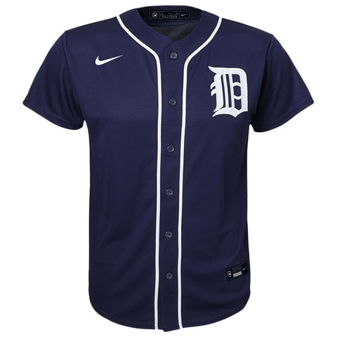 OUTERSTUFF NIKE YOUTH DETROIT TIGERS REPLICA ALERNATE JERSEY PRO NAVY