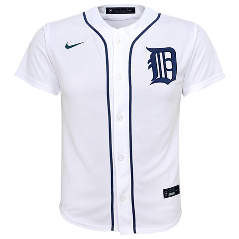 OUTERSTUFF NIKE YOUTH DETROIT TIGERS REPLICA HOME JERSEY WHITE