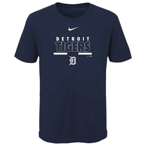 OUTERSTUFF NIKE YOUTH DETROIT TIGERS TEAM HIGHLIGHT SHORT SLEEVE TOP