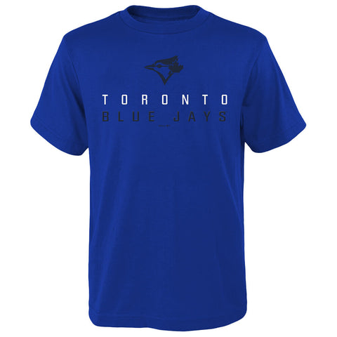 OUTERSTUFF YOUTH TORONTO BLUE JAYS LOW SLIDER SHORT SLEEVE TOP