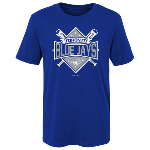 OUTERSTUFF 4-7 TORONTO BLUE JAYS DIAMOND BATS SHORT SLEEVE TOP
