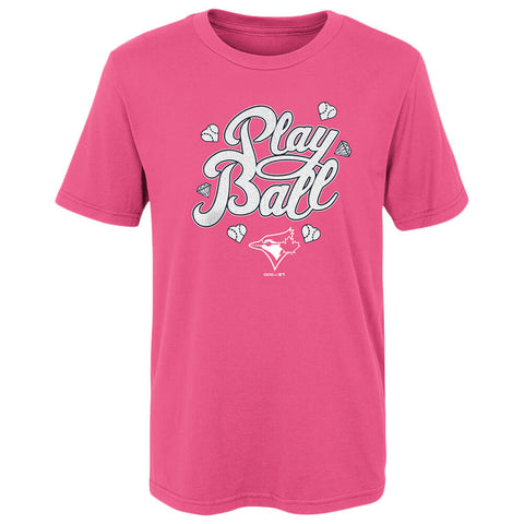 OUTERSTUFF 4-6X TORONTO BLUE JAYS BALL GIRL SHORT SLEEVE TOP