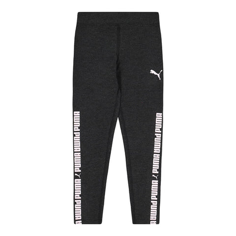 PUMA GIRL'S NO.1 LOGO PACK LEGGINGS BLACK/ CRYSTAL ROSE