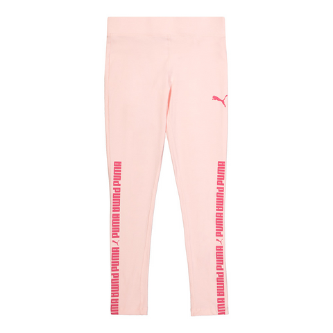 PUMA GIRL'S NO.1 LOGO PACK LEGGINGS CRYSTAL ROSE/ ROSE