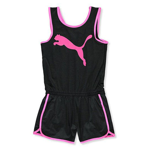PUMA GIRL'S ALPHA PACK ROMPER BLACK/ PINK