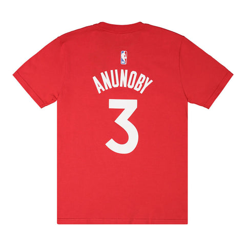 OUTERSTUFF YOUTH TORONTO RAPTORS NAME AND NUMBER SHORT SLEEVE TOP ANUNOBY