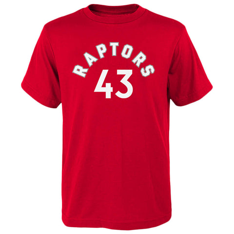 OUTERSTUFF 4-7 TORONTO RAPTORS NAME AND NUMBER SHORT SLEEVE TOP SIAKAM