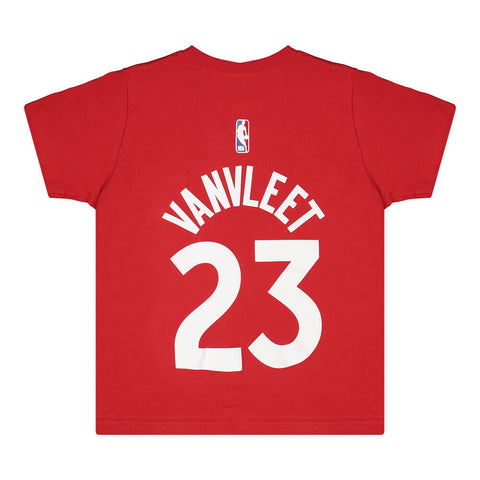 OUTERSTUFF 4-7 TORONTO RAPTORS NAME AND NUMBER SHORT SLEEVE TOP VANVLEET