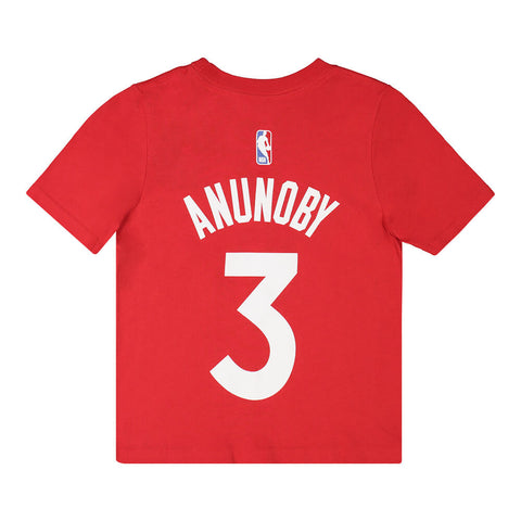 OUTERSTUFF 4-7 TORONTO RAPTORS NAME AND NUMBER SHORT SLEEVE TOP ANUNOBY