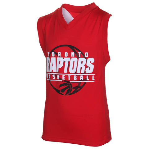 OUTERSTUFF YOUTH RAPTORS FAST LANE VNECK TOP SIAKAM RED