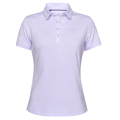 UNDER ARMOUR WOMEN' ZINGER SHORT SLEEVE POLO PURPLE