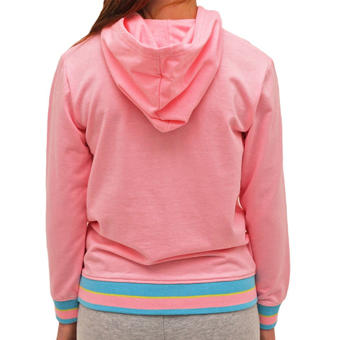 CHAMPION GIRL'S LOGO PULLOVER HOODY PINK CANDY