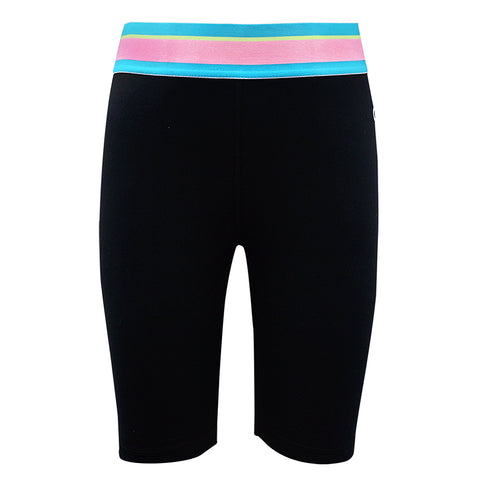CHAMPION GIRL'S LOGO BIKE SHORT BLACK