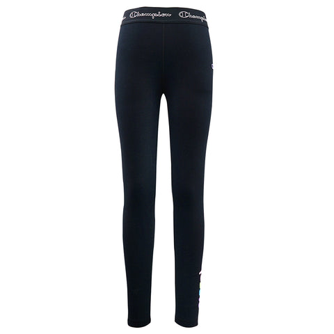 CHAMPION GIRL'S LOGO ELASTIC LEGGING BLACK