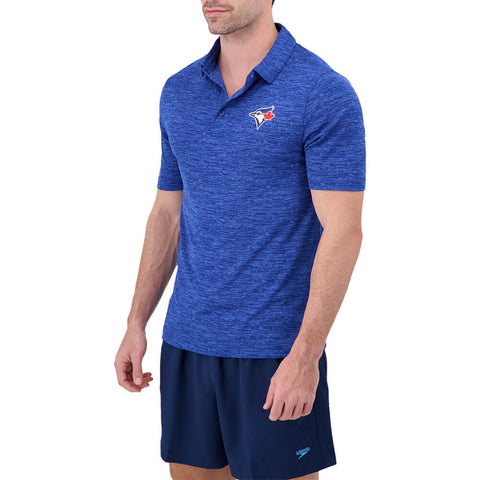 FANATICS MEN'S TORONTO BLUE JAYS PRACTICE MAKES PERFECT POLO BLUE ULTRA