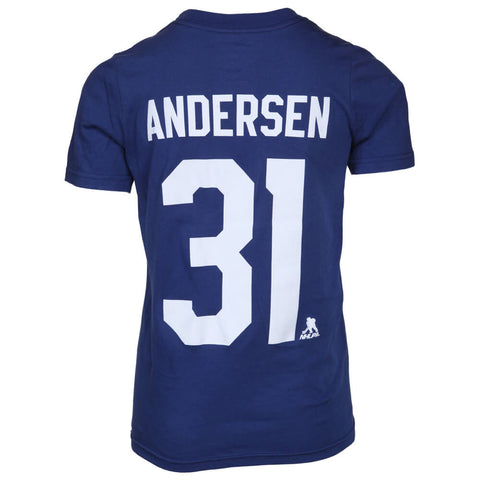 OUTERSTUFF YOUTH TORONTO MAPLE LEAFS ANDERSEN PLAYER TOP BLUE NUMBERS