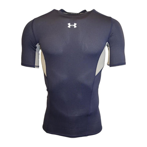 UNDER ARMOUR MEN'S HEAT GEAR COOLSWITCH COMPRESSION SHORT SLEEVE TOP NAVY