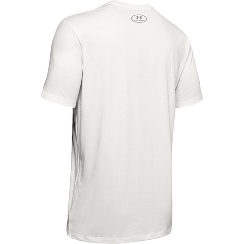 UNDER ARMOUR MEN'S SPORTSTYLE BLOCKED SHORT SLEEVE TOP WHITE BACK