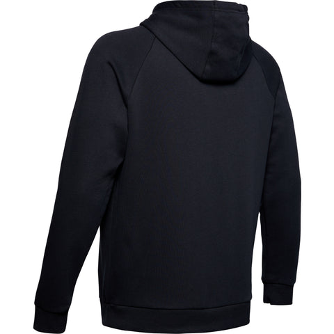 UNDER ARMOUR MEN'S RIVAL FLEECE PRINTED HOODY BLACK BACK