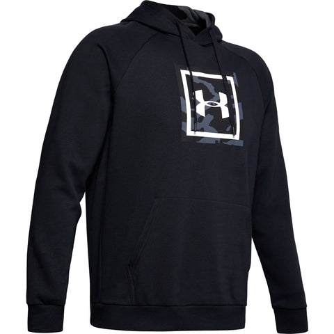 UNDER ARMOUR MEN'S RIVAL FLEECE PRINTED HOODY BLACK