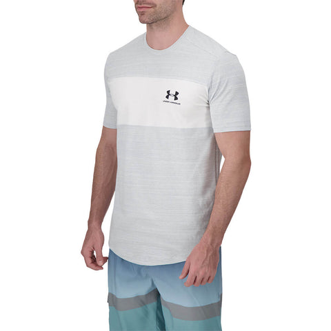 UNDER ARMOUR MEN'S SPORTSTYLE ESSENTIAL CB SHORT SLEEVE TOP WHITE