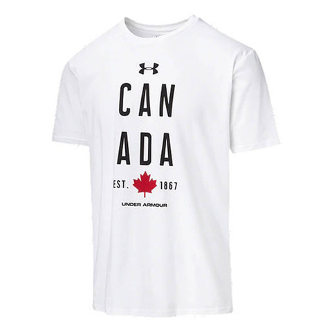 UNDER ARMOUR MEN'S CANADA ICON SHORT SLEEVE TOP WHITE