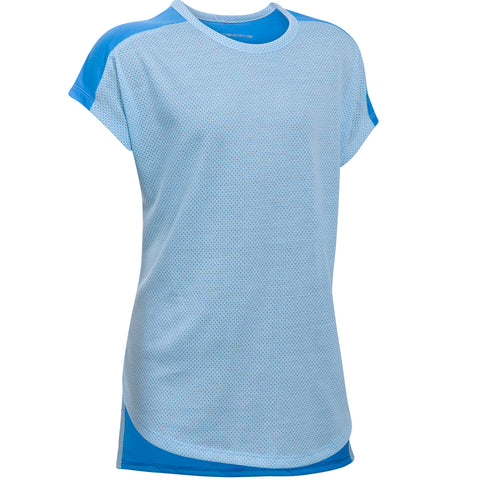 UNDER ARMOUR GIRL'S THREADBORNE PLAY UP TEE OPAL BLUE