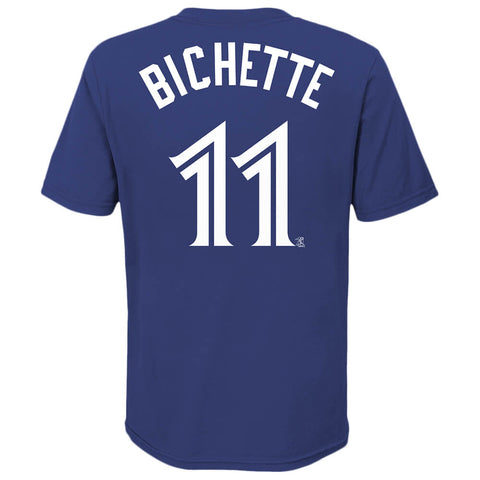 OUTERSTUFF YOUTH TORONTO BLUE JAYS BICHETTE NAME AND NUMBER SHORT SLEEVE TOP BLUE