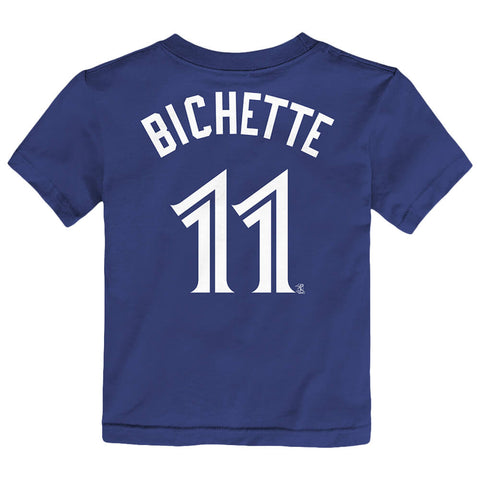 OUTERSTUFF 4-7 TORONTO BLUE JAYS BICHETTE NAME AND NUMBER SHORT SLEEVE TOP BLUE