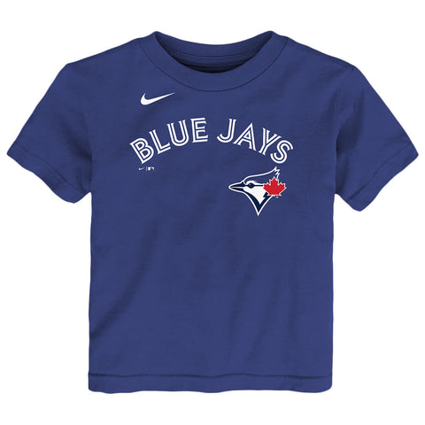 OUTERSTUFF 2T-4T TORONTO BLUE  JAYS BICHETTE NAME AND NUMBER SHORT SLEEVE TOP BLUE