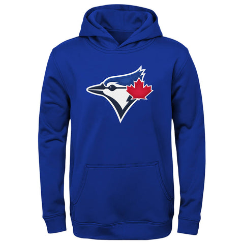 OUTERSTUFF YOUTH TORONTO BLUE JAYS WORDMARK TWILL FLEECE HOODY BLUE