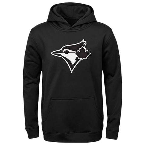 OUTERSTUFF YOUTH TORONTO BLUE JAYS WORDMARK TWILL FLEECE HOODY BLACK