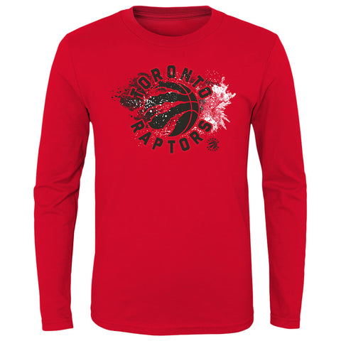 OUTERSTUFF YOUTH TORONTO RAPTORS SPLASHIN' LONG SLEEVE TOP RED