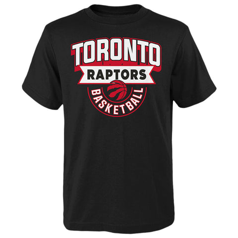 OUTERSTUFF YOUTH TORONTO RAPTORS GAME READY SHORT SLEEVE TOP BLACK